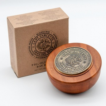 Мыло для бритья Сaptain Fawcett Scapicchio Fig, Olive & Bay Rum Shaving Soap CF5553